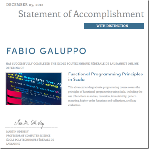 scala statement of accomplishment